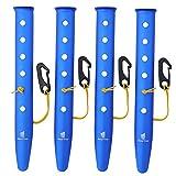 GEERTOP Paletti Picchetti per Tenda Alluminio per Campeggio su Spiaggia e Neve Chiodi per Escursioni in Trekking (Blu, 31 cm)