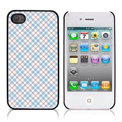 Graphic4You PLAID Muster Harte Hülle Case Tasche Schutzhülle für APPLE IPHONE 4 und 4S Design #20