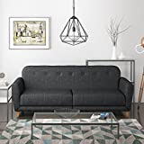 Archer 2 Seater Fabric Sofa Bed in Charcoal