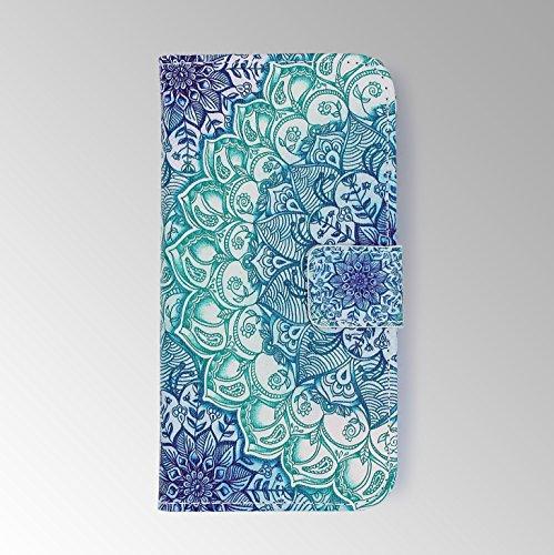 Schutz-Hülle iPhone 6 / 6s, Urcover® Handy Hülle [ mit Kartenfach und Ständer ] Kunstleder Wallet Case Schale Etui Cover Tasche für Apple iPhone 6 / 6s 4.7 in Design Paisley Paisley