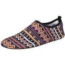 SHOBDW Calcetines de Buceo Natación Zapatos de Agua Unisex para Buceo Snorkel Surf Piscina Playa Yoga Deportes Acuáticos, Hombres y Mujeres (Multicolor, 37/38)