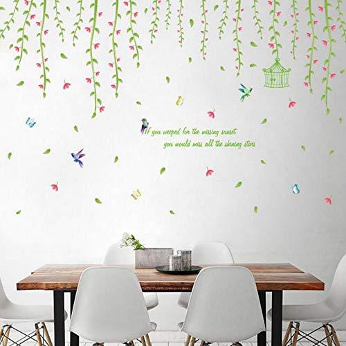 Yzybz Wandaufkleber Frühling Vogel Wandtattoo Home Gedicht Kunst Wohnkultur Für Kinderzimmer