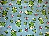Jersey Stoff / Kinder / Krokodil / Frosch