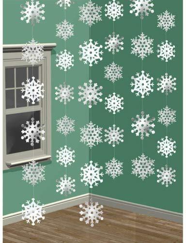 (3D-Schneeflocke zum Aufhängen, von Tankerstreet Winter Wonderland, Weihnachtsvorhang, für Partys)
