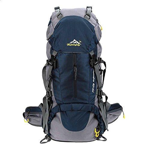 Lixada 50L Zaino Impermeabile Sport Trekking Escursioni Campeggio Viaggio Arrampicata Zaino con Copertura della Pioggia