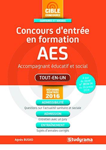 Concours d'entrée AES - Accompagnant éducatif et social