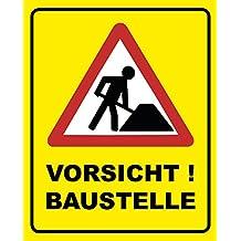 Baustelle schild comic  Suchergebnis auf Amazon.de für: Baustellen-Tafeln
