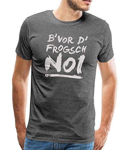 Spreadshirt Schwoba B'Vor D'Frogsch Schwäbischer Dialekt Männer Premium T-Shirt, M, Anthrazit