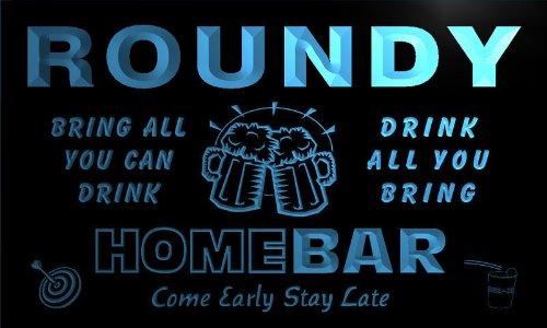 q38406-b-roundy-family-name-home-bar-beer-mug-cheers-neon-light-sign