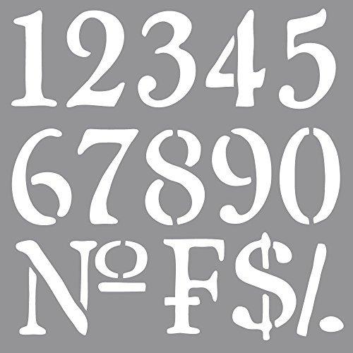 0 Schablone Nummern, 30,5 x 30,5 cm, Polyester, SB-Btl 1 Stück (Blattgold Zubehör)