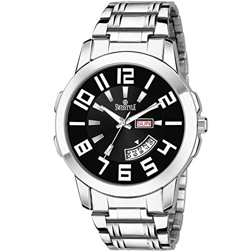 Swisstyle Analog-Digital Black Dial Men's Watch-SS-GR805-BLK-CH
