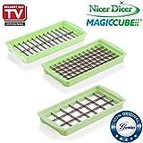 Genius Nicer Dicer Magic Cube | Messereinsätze | 3 Teile | Grün