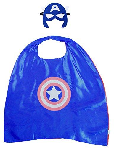 Capa de Superman Batman Spiderman Capitán América para Niños con Máscara - Capitán américa
