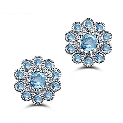 Licht Trim-ring (Personalisierte Kreative Ohr Ring-S925 Silber Ohrringe Licht Luxus Blumentopas Nabelschnur Trim Größe: 0,8 * 0,8 Cm, Thumby)