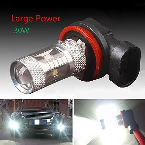 Hjuns 2pcs 30W 720lms Blanco H8HID Bombillas LED DRL Niebla/Conducción Lámpara De Luz