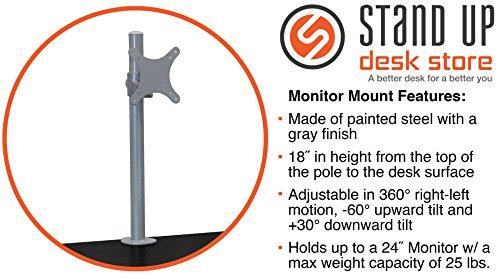 100cm Länge Höhenverstellbarer Schreibtisch (Rahmen silber / Holz schwarz) -