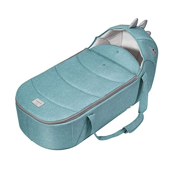 YANGGUANGBAOBEI Baby Lounger,Breathable And Hypoallergenic Toddler Newborn Co-Sleeping Lounger Bed,Breathable Foam Nest For Newborn And Babies,Blue YANGGUANGBAOBEI ❤[SUPER SOFT AND BREATHABLE ] - Coalahola provides a cosy and safe environment for your baby and toddlers, features hypoallergenic and breathable 3D mesh fabrics, both base and and have been certified as fully air permeable, it naturally regulates baby's body heat and comply with CPSC standards. ❤[ MULTIFUNCTIONAL BABY NEST]- Designed to give your little one a serene, safe, and sound sleep in their lovely co sleeping crib, this newborn nest helps baby's spine growing healthily. ❤[INCREDIBLY PORTABLE AND EASY TO CLEAN] : our portable infant sleeper lounger is perfect for your travel needs, wherever you go - hotels, play dates, parks, and more! The bumpers and base are quickly unzipped, removed and washed separately. 1