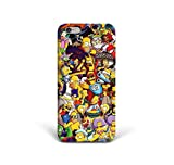 For iPhone 6 - iPhone 6s - Phone Back Case Hard Cover Custom Personalised Trendy Style Christmas Gift Present Abstract Modern Design Protective Plastic UK Brand Appfix Sticker Characters Kids Cartoon