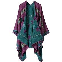 99aa69838cca Femme Cape Poncho Extra Large écharpe Châle Blanket Poncho Automne Hiver