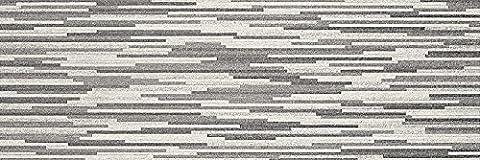 White & Grey Stone Effect Ceramic Matt Wall Tiles Bathroom Kitchen Cloakroom - 33.3 cm x 100 cm