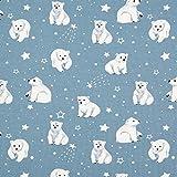Fabulous Fabrics Baumwolljersey Baby Eisbär|QjuTie Kids