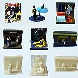 GALAXY EXPRESS 999 Set 8 Trading Figures Figuras Viñeta Original de Japón con el Sticker TOEI...