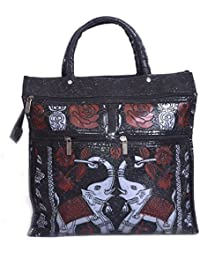 Bagris Classic Fine Art Solid Print Black PU Leather Hand Messenger Bag For Women & Girls GE01001528