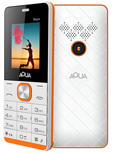 Aqua Maze (Dual Sim, 1000 Mah Battery, White-Orange)