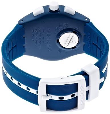 Swatch SUSN403-Reloj de Pulsera, Correa de Caucho, Color Azul de Swatch