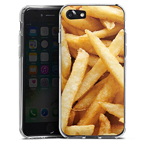 Apple iPhone X Silikon Hülle Case Schutzhülle Pommes Fritten Fast Food Silikon Case transparent