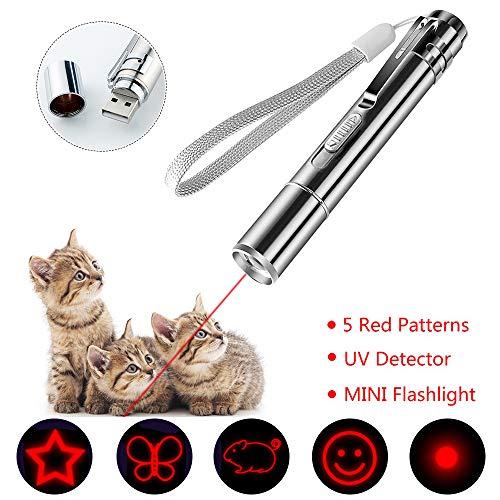 LED Pointer für Katzen 4 in 1 Katze Chaser Spielzeug Katze interaktive Spielzeug mit USB-Direktladung -