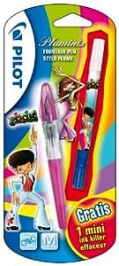 Pilot Pluminix neon Blister de Stylo-plume Pointe moyenne + 2 Cartouches + 1 Effaceur mini Gratuit Assortis