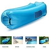 *** 2017 Neues Design --- mit Kissen *** Lifeasy - Outdoor Wasserdichte Aufblasbare Air Sofa Couch Portable Kompression Schlafen Lounger für Camping, Strand, Park, Hinterhof - Blau (2017 update- with pillow)