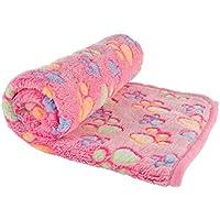YARBAR morbido pile Paw Print Pet Blanket sonno Mat cucciolo del cane della stuoia del gatto per il letto divano Kennel copertura Kitten Blanket