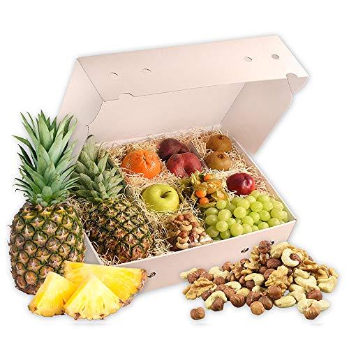 Obstbox Balance-Snack mit frischem Obst für einen lieben Gruß in klassischer Geschenkbox für eine gesunde Ernährung (Die Klassische) (Mit Obst Frischem Korb)