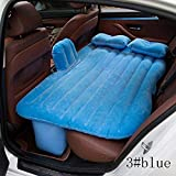 Car Back Seat Inflatable Air Bed Sky Blue Car Bed Outdoor Travel Mattress