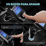 VicTsing Manos Libres Bluetooth Coche Transmisor FM, Radio Musica Receptor Altavoz Bluetooth Coche FM, Reproductor de MP3 Transmisor, 1.44