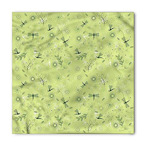 RAINNY Dragonfly Bandana, Flowers Kids Boys, Unisex Head and Neck Tie Head and Neck Tie Neckerchief Headdress Silk-Like 100% Polyester -