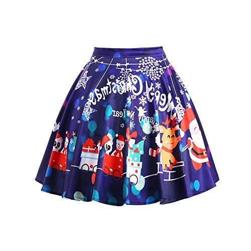 Yazidan Frau BeiläUfig Weihnachten Weihnachtsmann Aufflackern Elastisch Hohe Taille Cosplay Ball Kleid Rock Damen FröHliches Geschenk Petticoat Band Trompete Unterhose FüR Die Hochzeit(Lila,L)