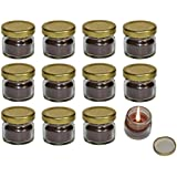 Pure Source India Scented Mini Jar Candle Vanilla 12 Pcs Pack.