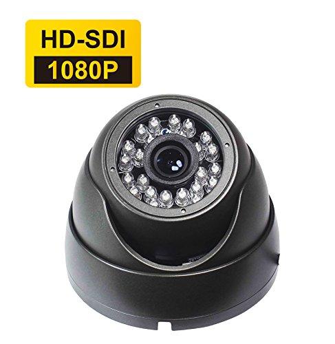 Galleria fotografica SKYVIEW 1080P HD-SDI/ 960H Analog CCTV telecamera di 3.6mm ampio Angolo Sta guardando Fisso lente & 24 LEDs Visione notturna diurna Esterno/Interno Platino Sicurezza Sorveglianza telecamera-Grigio