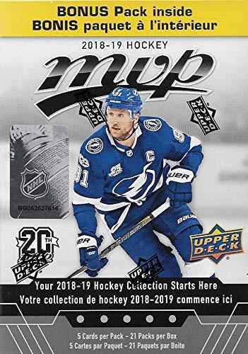 2018 2019 Upper Deck MVP NHL Hockey-Serie unopen Blaster Box mit 21 Packungen mit Chance für Rookies Plus #1 Draft Picks Karten und Blaster Exklusive Gold Schriften -