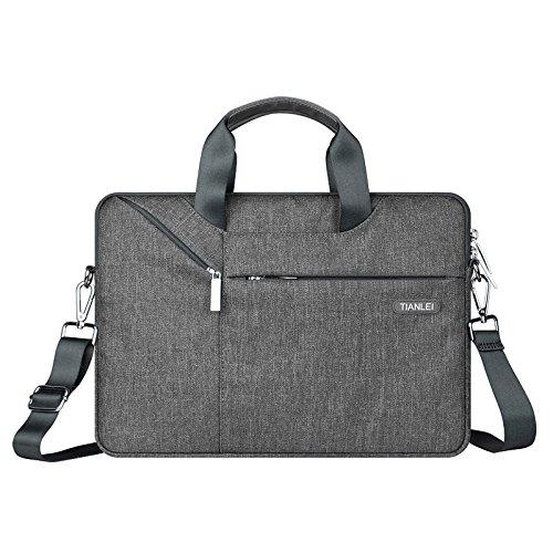 brinch 15-15,6 zoll multi - funktions - anzug stoff portable laptop ärmel fall schulter beutel aktentasche für laptop, tablet, macbook - notebook,grau,13 - zoll -
