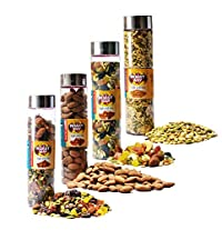 Roastway Foods Roasted Almonds and Dry Fruits Trails Mix and Premium Seeds Mix and Seeds Berries & Nuts