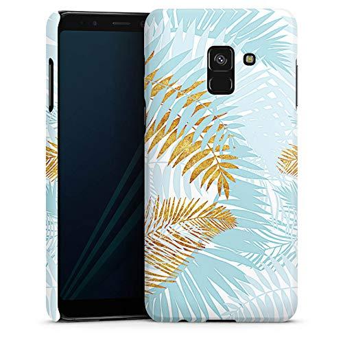 DeinDesign Hülle Premium Case Handyhülle kompatibel mit Samsung Galaxy A8 Duos 2018 Palmen Pflanzen Palme