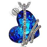 PAULINE&MORGEN Venedig Liebe Kette damen Schmuck Swarovski Steinen Herz Blau geburtstagsgeschenke Weihnachten Weihnachtsgeschenke muttertagsgeschenk valentinstag geschenk geschenke fur frauen