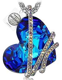 PAULINE&MORGEN Amor Venecia Collar para Mujer fabricados con cristales SWAROVSKI y caja de regalo