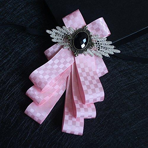 lpkone-Angleterre tie business-men's cravat papillon multicouche robe de mariage mariage groom groomsman-noeud papillon cloutés Powder