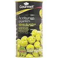 Gourmet Aceitunas gigantes rellenas de anchoa - Verde manzanilla extra - 600 g