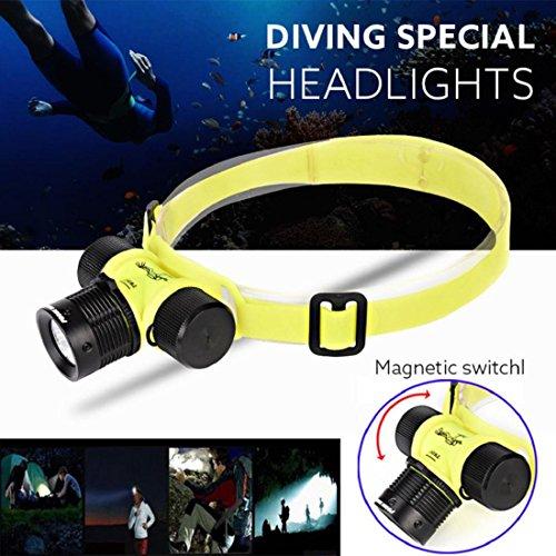 Tongshi 5000LM del CREE XM-L XPE LED linterna del faro de la linterna de la lámpara de luz de la cabeza